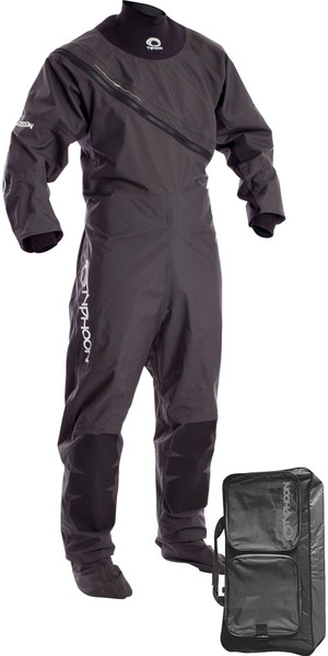 2018 Typhoon Ezeedon 3 Front Zip Drysuit Grey Including Walrus Bag 100158