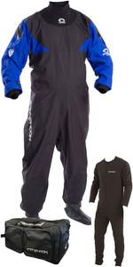 2019 Typhoon Hypercurve 4 Back Zip Drysuit, Underfleece & 80L Holdall Package Deal