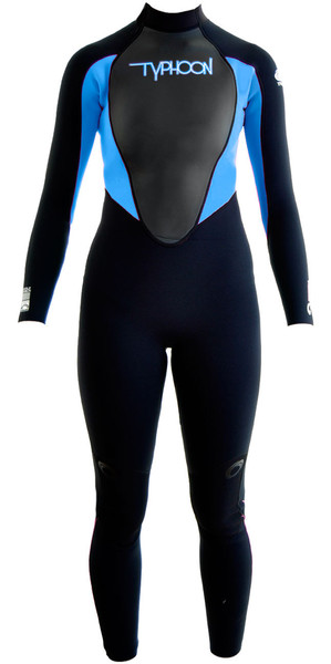 2018 Typhoon Junior Girls Storm 5mm Wetsuit Black / Periwinkle 250607