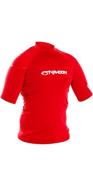 2018 Typhoon Junior Short Sleeve Rash Vest Rich Red 430072