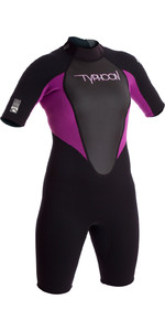 2019 Typhoon Womens Storm 3/2mm Shorty Wetsuit Iris / Black 250891