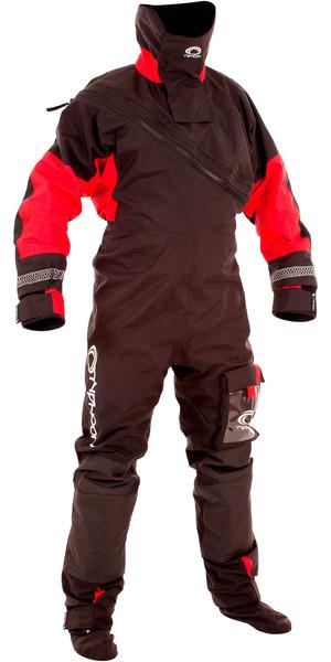 2018 Typhoon Max B Drysuit With Con Zip Black / Red 100168