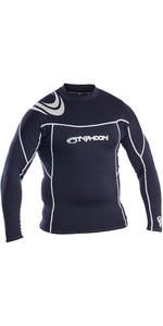 2019 Typhoon Mens Long Sleeve Rash Vest Dark Teal 430011