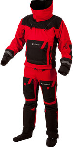 2019 Typhoon PS330 Xtreme Kayak / Ocean Sailing Drysuit + Con Zip Black / Red 100151