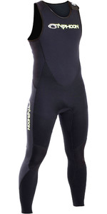 2019 Typhoon Mens Storm 3mm Long John Wetsuit Black 250800