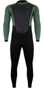 2021 Typhoon Mens Storm3 3/2mm Back Zip Wetsuit 250775 - Black Green