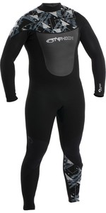 2020 Typhoon Mens Vortex 5/4mm GBS Chest Zip Wetsuit 250643 - Black / Silver