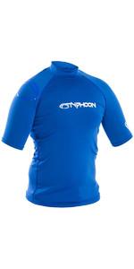 2019 Typhoon Short Sleeve Rash Vest Aqua Blue 430023