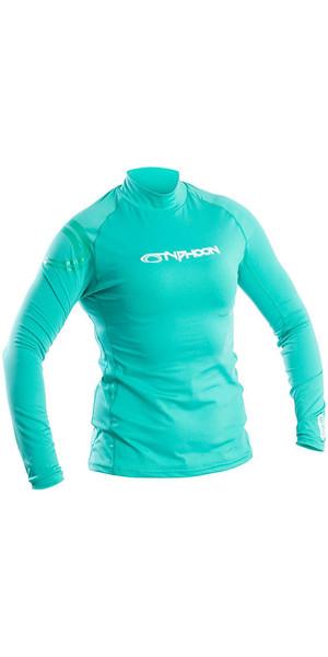 2018 Typhoon Womens Long Sleeve Rash Vest Aqua Green 430033