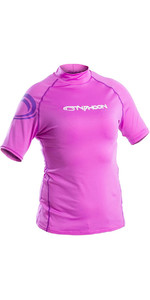 2019 Typhoon Womens Short Sleeve Rash Vest Violet 430042