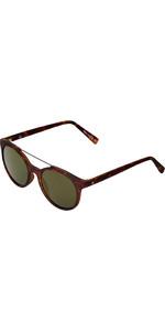 2021 US The Calix Sunglasses 829 - Matte Tortoise Shell / Grey Gold Chrome Lenses