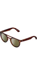 2021 US The Neos Polarised Sunglasses 834 - Matte Tortoise Shell / Grey Gold Chrome Lenses