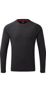 2019 Gill Mens Long Sleeve UV Tec Tee Charcoal UV011