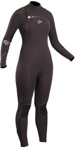 2019 GUL Womens Viper 5/4mm Chest Zip GBS Wetsuit BLACK VR1223-B5