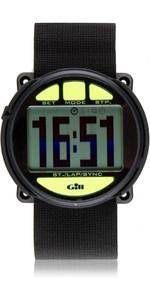 2019 Gill Regatta Race Timer Watch BLACK lime buttons W014