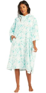2021 Billabong Womens Change Robe / Poncho W4BR70 - Island Blue Neo