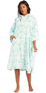 2021 Billabong Womens Change Robe / Poncho W4BR70 - Island Blue Neo