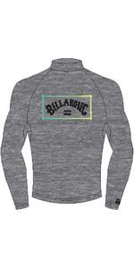 2021 Billabong Mens Unity Long Sleeve Rash Vest W4MY12 - Grey Heather