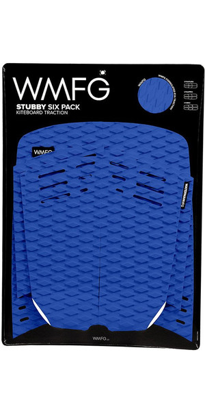 2018 WMFG Stubby Six Pack Kiteboard Traction Pad BLUE / WHITE 170005