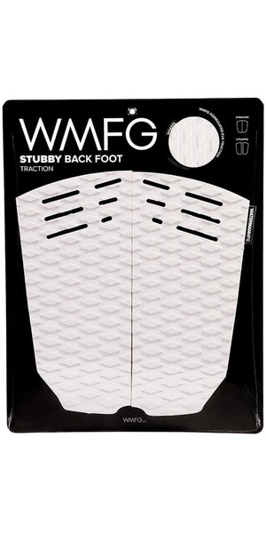 2018 WMFG Stubby Back Foot Traction Pad White / Black 170020