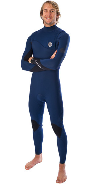 Rip Curl Flashbomb 3/2mm ZIP FREE Wetsuit in Navy WSM4RF
