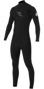 Rip Curl E-Bomb 5/4/3mm GBS Chest Zip Wetsuit BLACK WSM5CE