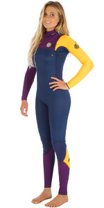 Rip Curl Womens G-Bomb 4/3mm GBS Zip-free Wetsuit Orange WSM5IG