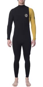 2019 Rip Curl Mens E-Bomb Pro 3/2mm Zipperless Wetsuit Yellow WSM8RE