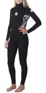 2019 Rip Curl Womens Dawn Patrol 5/3mm Chest Zip Wetsuit Black WSM9AS