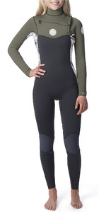 2019 Rip Curl Womens Dawn Patrol 5/3mm Chest Zip Wetsuit White WSM9AS
