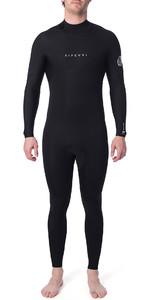 2019 Rip Curl Mens Dawn Patrol Warmth 4/3mm Back Zip Wetsuit Black WSM9EM