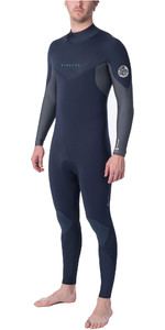2019 Rip Curl Mens Dawn Patrol Warmth 4/3mm Back Zip Wetsuit Slate WSM9EM