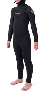 2019 Rip Curl Junior Dawn Patrol 5/4mm Hooded Chest Zip Wetsuit Black WSM9HB