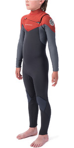 2019 Rip Curl Junior Dawn Patrol 4/3mm Chest Zip Wetsuit Burnt Orange WSM9LB