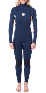 2019 Rip Curl Womens Dawn Patrol 3/2mm Chest Zip Wetsuit Navy WSM9KS