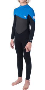 2019 Rip Curl Junior Omega 5/3mm GBS Back Zip Wetsuit Blue WSM9SB