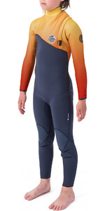 2020 Rip Curl Junior Flashbomb 5/3mm Zip Free Wetsuit Orange WSM9XU
