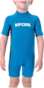 2019 Rip Curl Toddlers Dawn Patrol 1.5mm Spring Shorty Wetsuit Blue WSP7BK