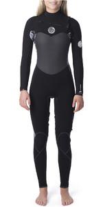 2019 Rip Curl Womens Flashbomb 3/2mm Chest Zip Wetsuit Black / White WST9ES