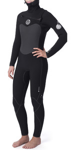2019 Rip Curl Womens Flashbomb 6/4mm Hooded Chest Zip Wetsuit WST9HG