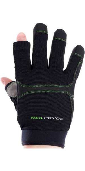 2018 Neil Pryde Junior Regatta Full Finger Sailing Gloves Black WUKSAGGF