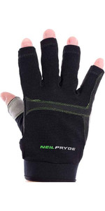 Neil Pryde Regatta Half Finger Sailing Gloves Black WUKSAGGH