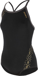 2021 Zone3 Womens Iconic Bound Back Costume SW20WIB - Black / Grey / Gold