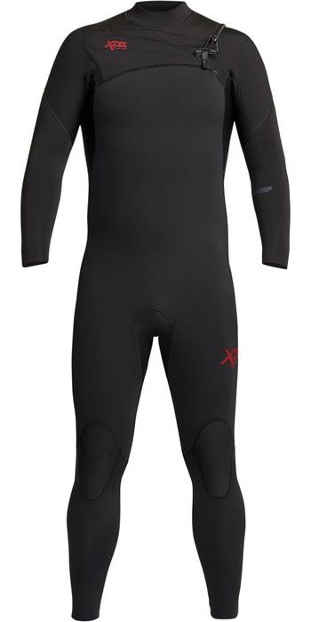 2021 Xcel Mens Comp 3/2mm Chest Zip Wetsuit MN32ZX - Black