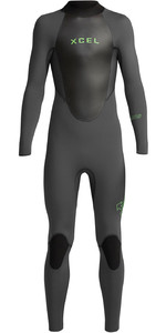 2020 Xcel Junior Axis 4/3mm Back Zip Wetsuit KT43AX19 - Graphite