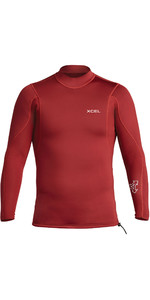 2020 Xcel Mens Axis 2/1mm Long Sleeve Neoprene Top MN216AX0 - Chili Pepper