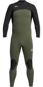 2020 Xcel Mens Comp 4/3mm Chest Zip Wetsuit MN43ZXC0 - Dark Forest