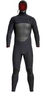 2020 Xcel Mens Drylock X 5/4mm Hooded Chest Zip Wetsuit MC54HPNO - Black