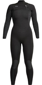 2020 Xcel Womens Comp 5/4mm Chest Zip Wetsuit WN54ZXC0 - Black / Flower