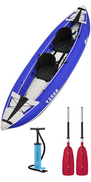 2018 Z-Pro Tango 1 or 2 Man Inflatable Kayak TA200 BLUE + 2 FREE PADDLES + PUMP